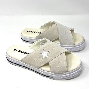 Converse One Star Sandal Suede Egret Women's